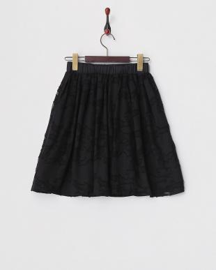 ブラック  オパールフラワースカート見る
