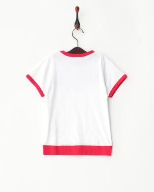 ホワイト  ロゴ入りTシャツ見る