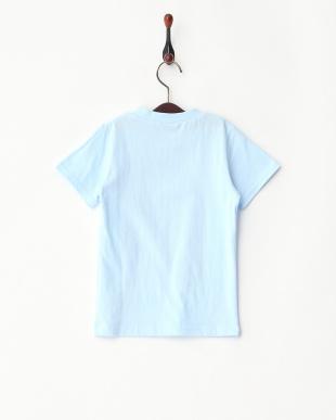 ブルー  フォトプリントTシャツ見る