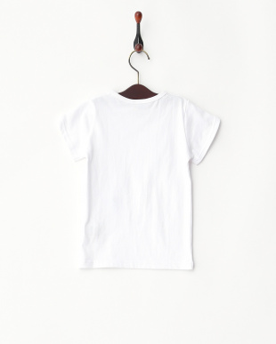 ホワイト  リボン付きTシャツ見る