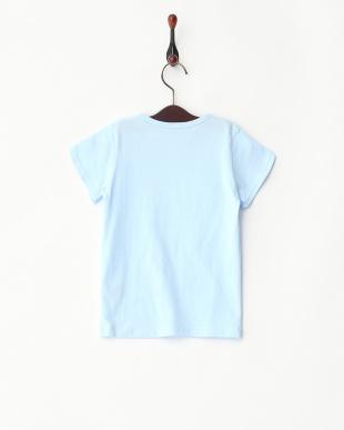 ブルー  リボン付きTシャツ見る
