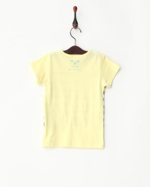 イエロー  フラワーイラストTシャツ見る