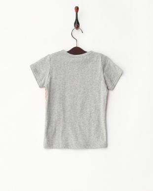 グレー  フラワーTシャツ見る