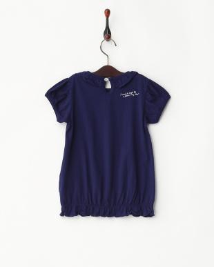 ネイビー  フリルTシャツ見る
