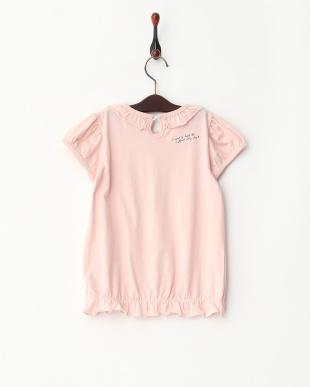 ピンク  フリルTシャツ見る