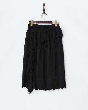 ブラック フラワーエンブロイダリースカート見る