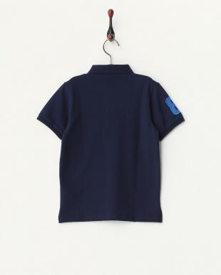 ネイビー  ライオン刺繍ポロシャツ B見る