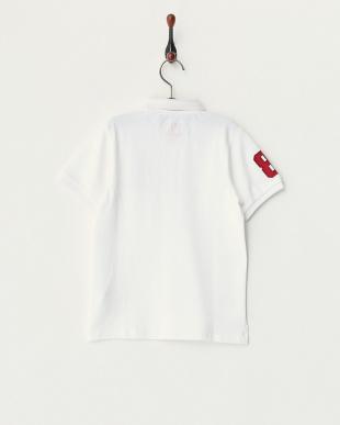 ホワイト  ライオン刺繍ポロシャツ B見る
