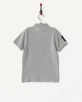 杢グレー  ライオン刺繍ポロシャツ B見る