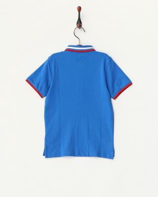 ブルー  国旗ポロシャツ見る
