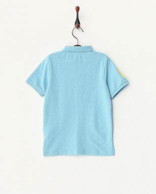 ブルー  エンブレムライオンポロシャツ見る