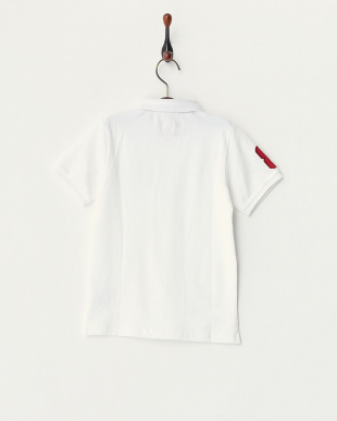 ホワイト  エンブレムライオンポロシャツ見る