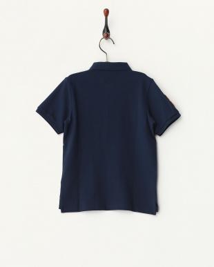 ネイビー  ライオン刺繍ポロシャツ C見る