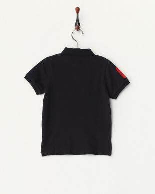 ブラック  ライオン刺繍ポロシャツ C見る