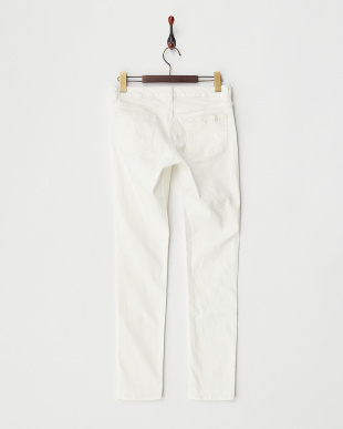 WHITE BASIC SKINNY PANTS見る