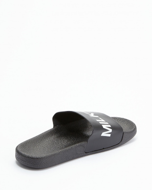 BLACK LOGO SHOWER SANDALS見る