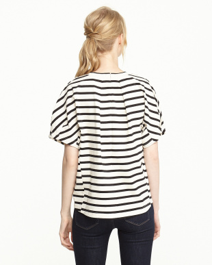 WHITE  STRIPED H/S TEE見る