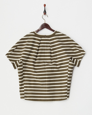 OLIVE  STRIPED H/S TEE見る