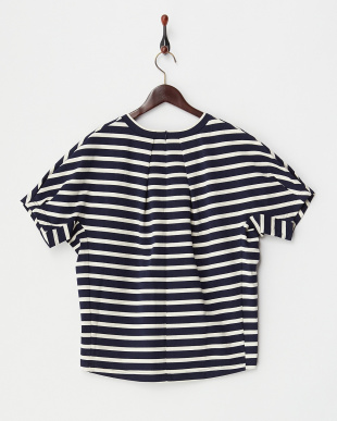 NAVY  STRIPED H/S TEE見る