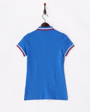 ブルー  国旗ポロシャツ│WOMEN見る