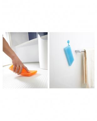 クリア+ホワイト バスルームお掃除用品2点セット見る