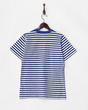 BLUE CURSIVE STRIPED 半袖Tシャツ見る