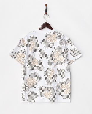 WHITE  GEOMETRIC LEOPARD 半袖ビッグTシャツ見る