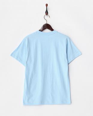 LIGHT BLUE  HOT DOG フォトプリント半袖Tシャツ見る