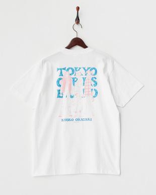 WHITE  3ガールズ 半袖ビッグTシャツ見る