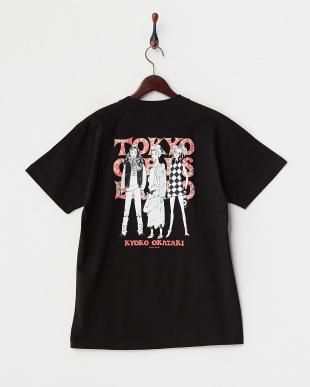 BLACK  3ガールズ 半袖ビッグTシャツ見る