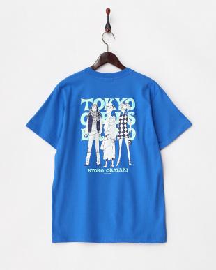 BLUE  3ガールズ 半袖ビッグTシャツ見る