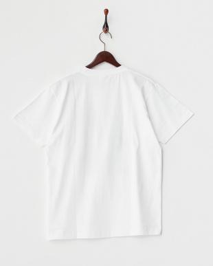 WHITE  モノクロコミック半袖ビッグTシャツ見る