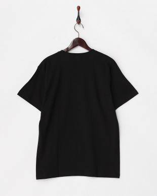 BLACK  モノクロコミック半袖ビッグTシャツ見る