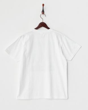 WHITE  カラーコミック半袖Tシャツ見る