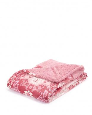 レッド  毛布仕立てのあたたか掛けふとんカバー ダブルロング見る