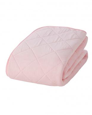 ピンク  マイヤー敷きパッド ダブル見る