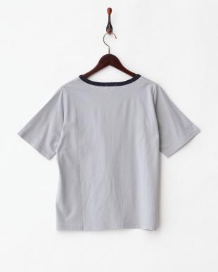 グレー  婦人用5分袖Tシャツ見る