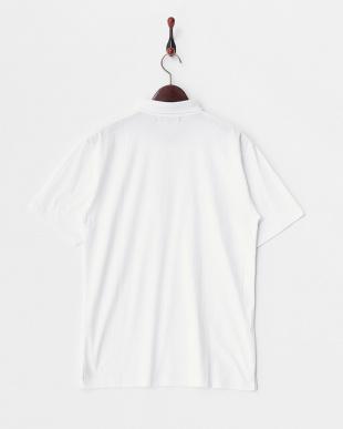 ホワイト  コットンポロシャツ見る