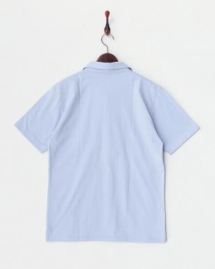 ライトブルー  へリンボーンポロシャツ見る
