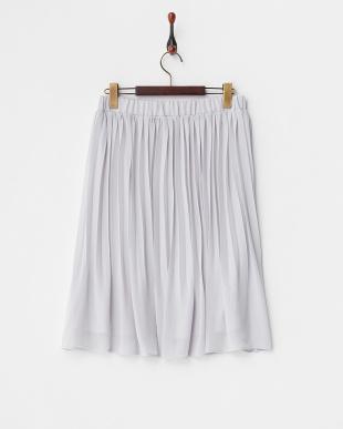 グレー  シフォンプリーツスカート見る