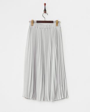 グレー  ジョーゼットプリーツスカート見る