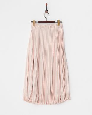 ピンク  ジョーゼットプリーツスカート見る
