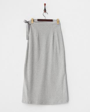 グレー  ラップロングスカート見る