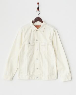 ホワイト  ツイルカラーGジャケット見る