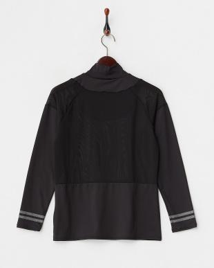 ブラック 吸汗速乾/UVカット/消臭糸 長袖ハイネックインナーシャツ見る