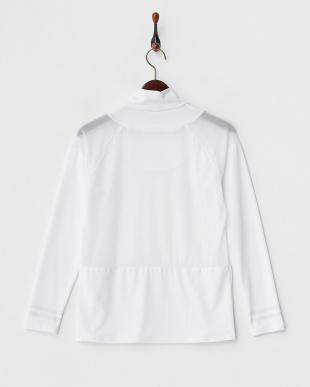 ホワイト 吸汗速乾/UVカット/消臭糸 長袖ハイネックインナーシャツ見る