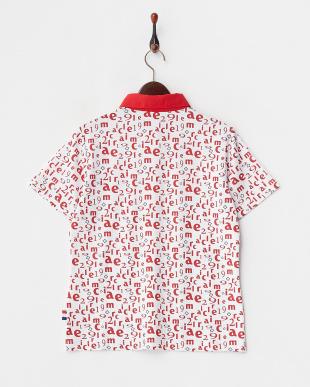 レッド  吸汗速乾/UVカット モノグラムプリント半袖シャツ見る