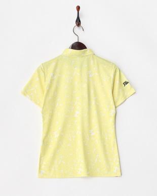 イエロー  吸汗速乾/UVカット ワッペン付きプリントシャツ見る