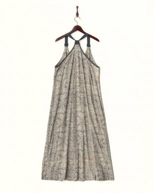 BLACK  N.S. dress・コットンマキシワンピース/レトロロープ柄見る