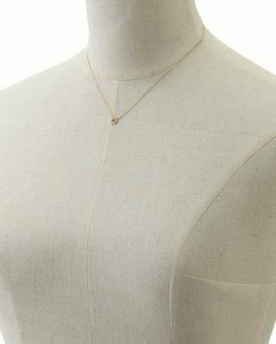 イエローゴールド ダイヤモンド 六角形ネックレス見る